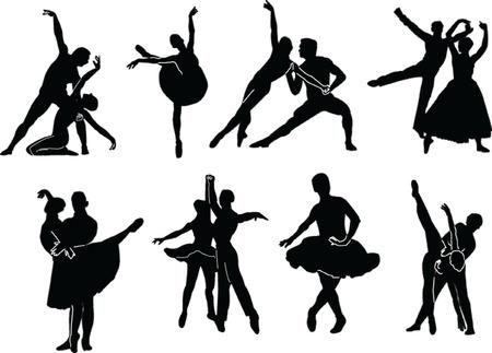 ballet hombres: recogida de ballet - vector Vectores