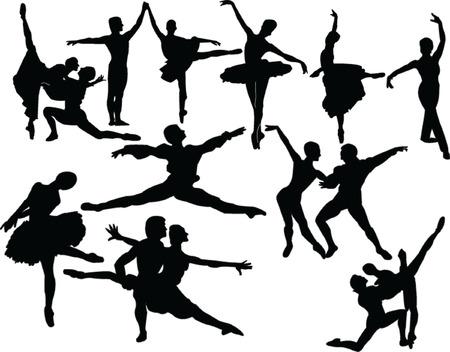 ballet collection 2 - vector Vector