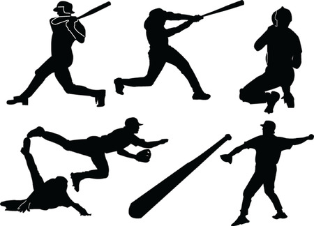 baseballs silhouette collection - vectorart, Stock Vector - 5127858