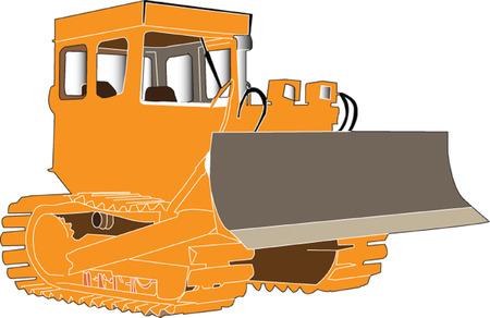 back hoe: bulldozer