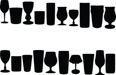 bocal: glasses collection - vector Illustration