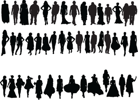 fashion week:  fashion week collection - vector