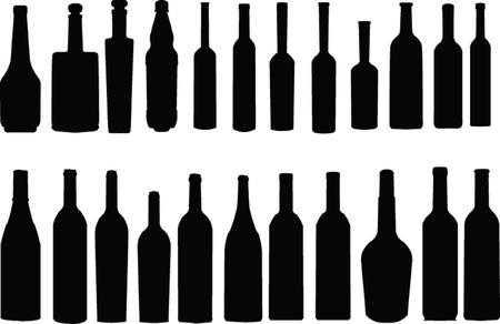 bottle collection - vector Vector