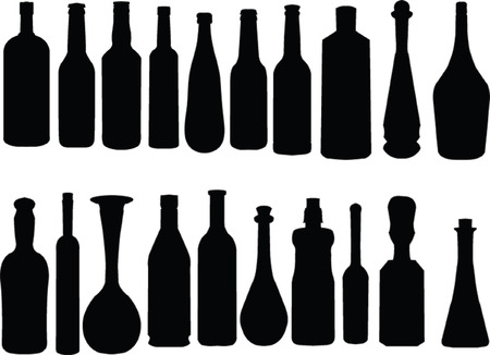 sugarbowl:  bottle collection - vector