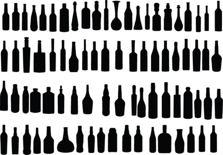 bottle collection - vector