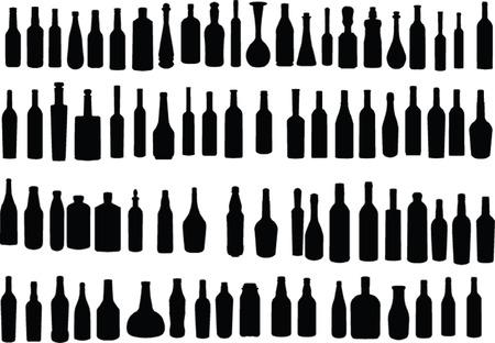 alcoholismo: recogida de botellas - vector