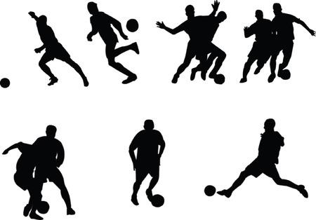 footballers collection - vector Vector