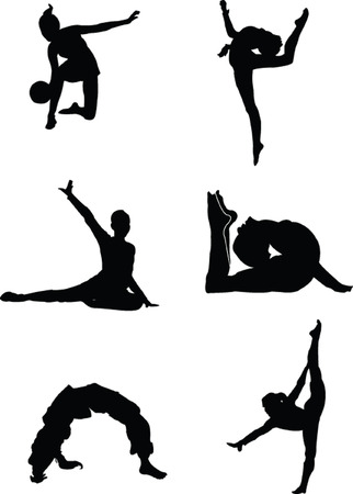rhythmic gymnastics: gimnasia collection - vector
