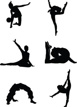 rhythmische sportgymnastik: Gymnastik collection - vector Illustration