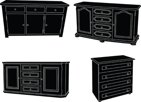 commode collection - vector Vector