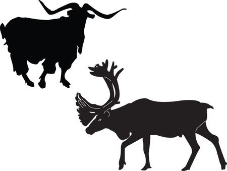 goat and reindeer Stock Vector - 5146442