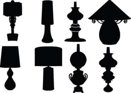 finial:  lamps collection - vector Illustration