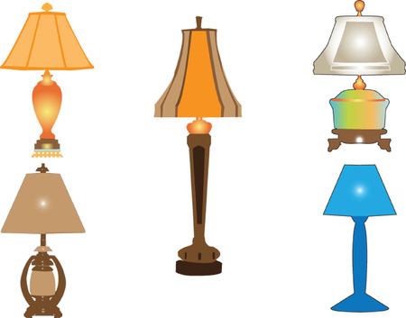lamp silhouette: lamp collection - vector