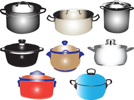 casseroles collection - vector