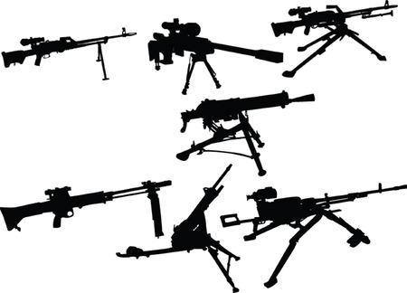 kalashnikov: machine guns - vector