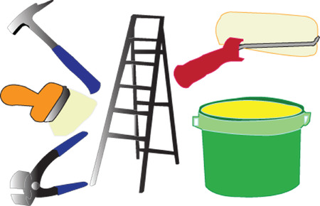 painter equipment - vector Stock Vector - 5249380