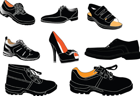 loafer: footwear collection - vector