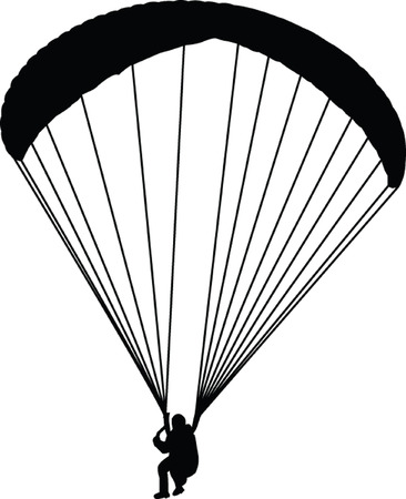 glide: paragliding - vector