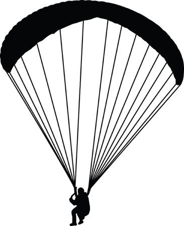 parapendio: Parapendio - vector