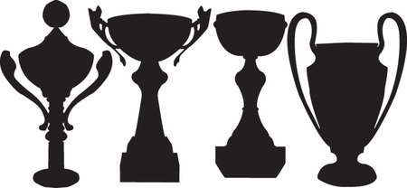 competitions: cups collection - vector