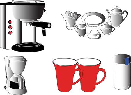 coffee garniture - vector Stock Vector - 5248861