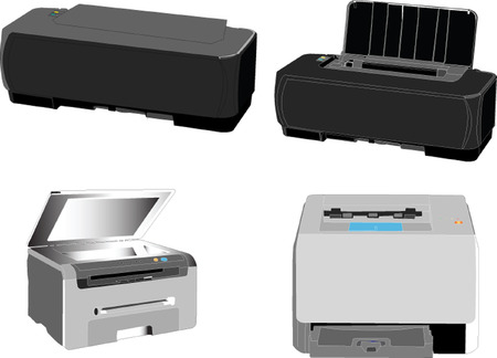 printers collection - vector