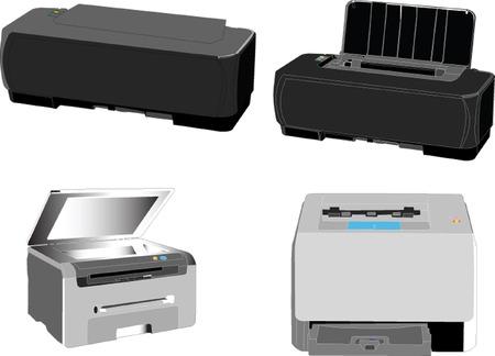 printers collection - vector Vector
