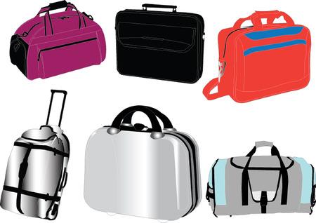 packing suitcase: collezione di borse da viaggio