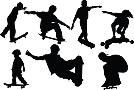 skateboarders collection Vector