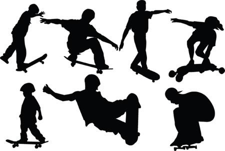 skateboard boy: skateboarders collection Illustration