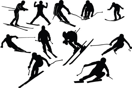 skiing collection Vector