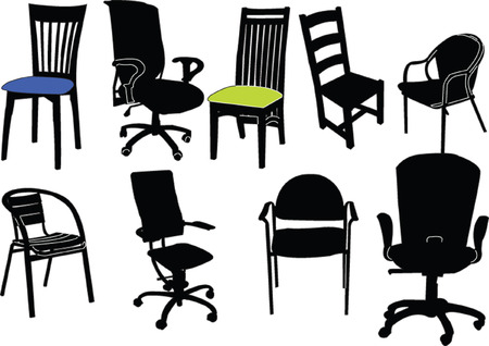 chairs collection Stock Vector - 5275292