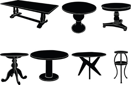 tables collection Vector