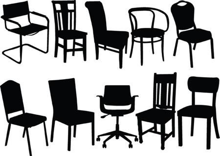 vintage living room: chairs collection