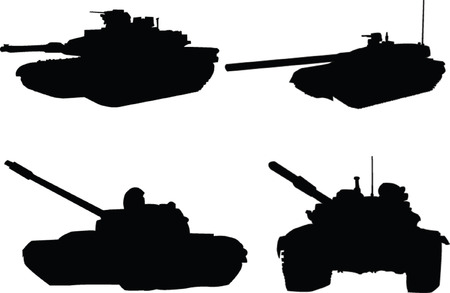 tanks collection Vector