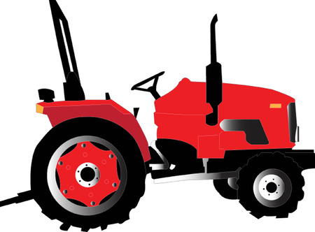 tractor in field: tractor Illustration