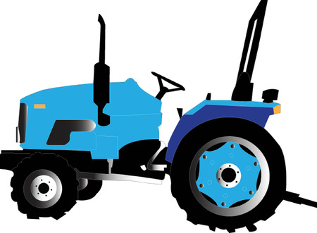 agricultural tools: tractor Illustration