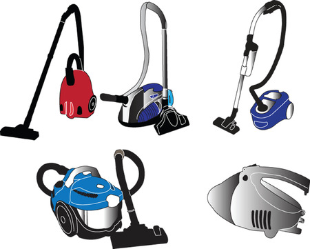 vacum cleaner collection - vector Vector