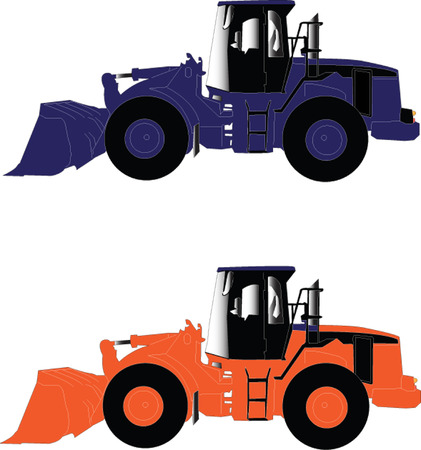 loaders collection - vector Stock Vector - 5286388