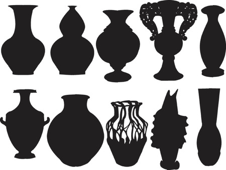 vases collection - vector Vector