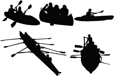 piragua: recogida de remo - vector