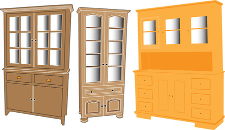 armarios: colecci�n de casos muestran - vector