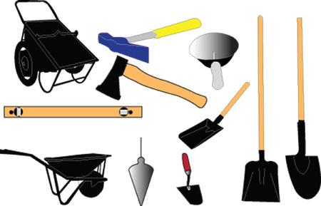 mason: mason equipment Illustration