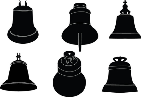 bautizo: campanas de recogida - vector Vectores