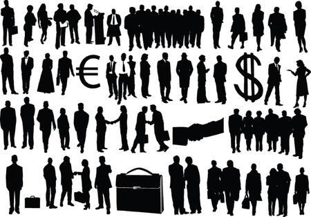 big business: grandes hombres de negocios de recogida - vector
