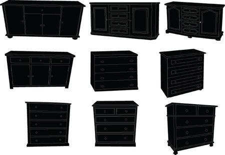 show case:  show case collection - vector Illustration