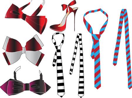 necktie collection - vector