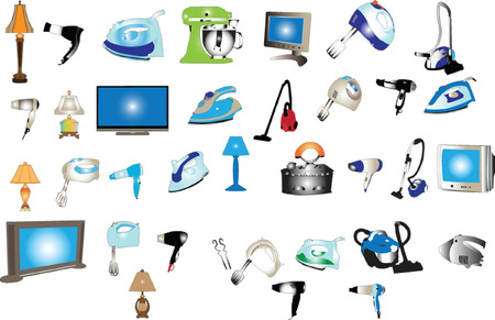 home appliances big collection - vector
