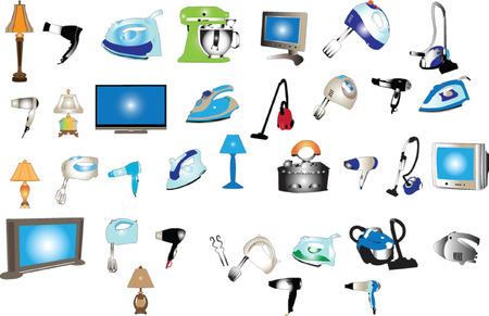 home appliances: Home de la gran colecci�n de aparatos - vector Vectores