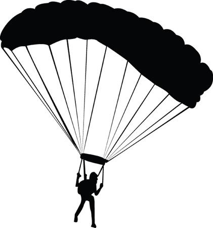 skydiving:  skydiving - vector